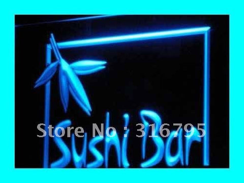 OPEN Sushi Bar Cafe Restaurant LED Neon Light Sign