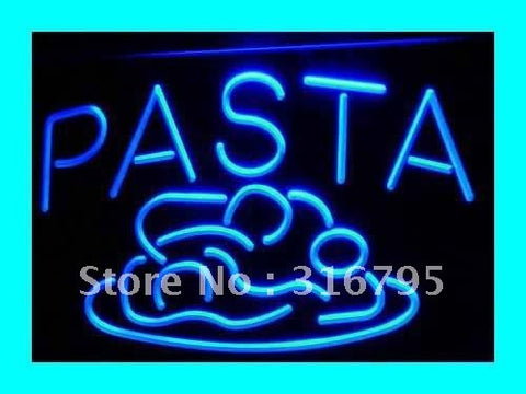 OPEN Pasta Cafe Restaurant Pizza LED Neon Light Sign