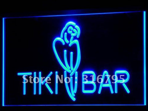 Tiki Bar Parrot OPEN Display NEW LED Neon Light Sign