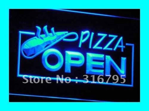 OPEN Pizza Restaurant Displays LED Neon Light Sign
