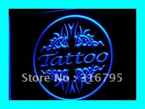 OPEN Tattoo Body Piercing Display NEW Light Sign