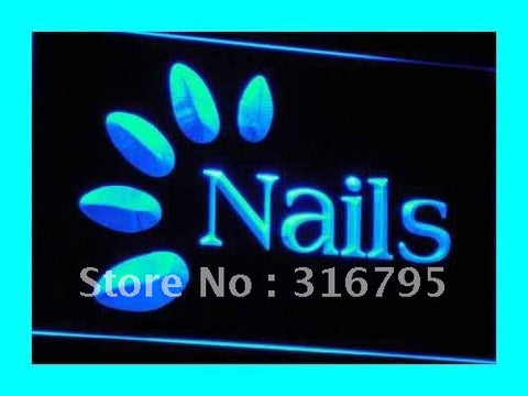 OPEN Nails Hair Beauty Skin LED Neon Light Sign