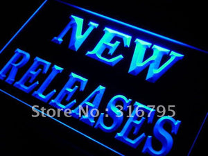New Releases DVD Shop Display LED Neon Light Sign
