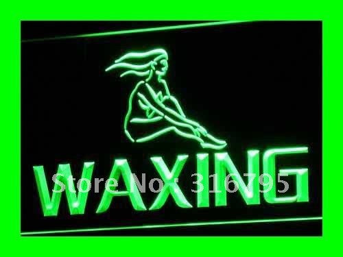 OPEN Waxing Beauty Salon Retail LED Neon Light Sign