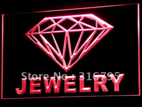 Jewelry Diamond Shop OPEN NEW LED Neon Light Sign