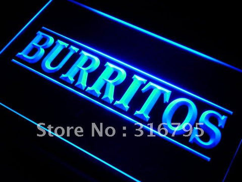 Burritos LED Neon Light Sign