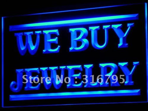 We Buy Jewelry Shop Display OPEN LED Neon Light Sign