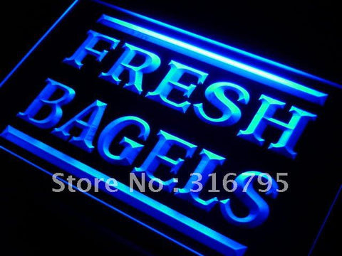 Fresh Bagels Shop LED Neon Light Sign