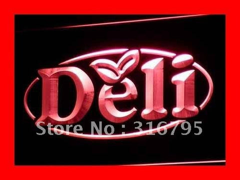 Deli Neon Sign (OPEN Cafe Restaurant Logos LED Light)