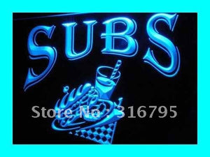 Subs Sandwiches Neon Sign (OPEN Cafe Shop LED Light)