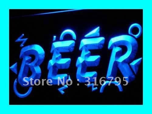 BEER Neon Sign (Bar Pub Club Cafe Shop OPEN Light)