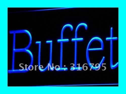Buffet Neon Sign (Cafe Restaurant Dinner OPEN Light)