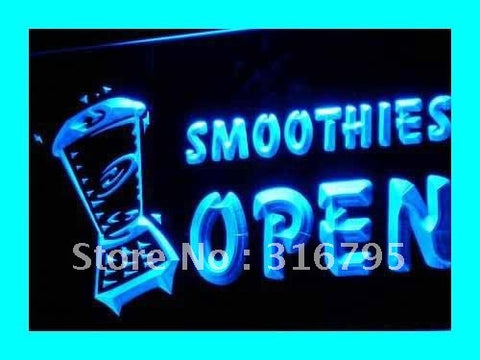 OPEN SMOOTHIES Neon Sign (Drink Smoothie Light LED)