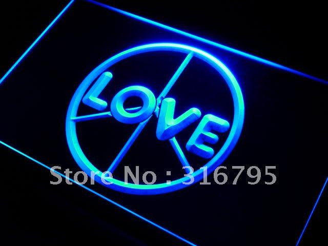 Love Peace Neon Sign (Display LED Light)