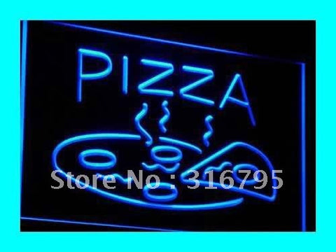 OPEN Hot Pizza Neon Sign (Cafe Restaurant LED Light)