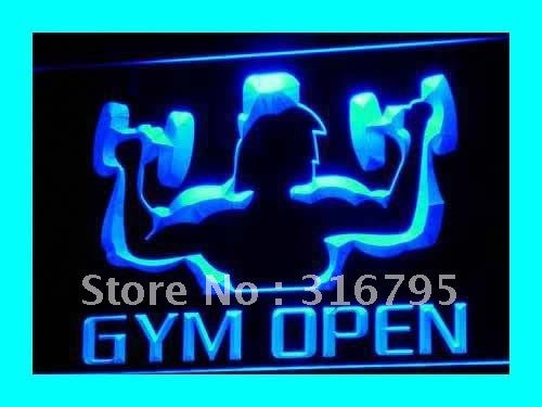 OPEN Gym Neon Sign (Gymnasium Room Shop LED Light)