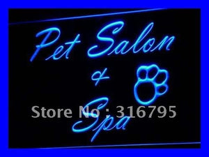 Pet Salon & Spa Neon Sign (Dog Grooming Light LED)
