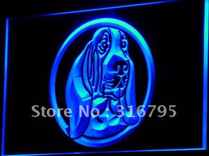 Basset Hound Dog Pet Shop Neon Sign (Light LED)