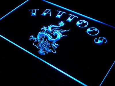 Tattoo Dragon Neon Sign (Light. Chinese. Shop. Art. Decor. LED)