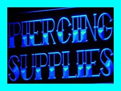 Piercing Supplies Neon Sign (Tattoo Shop LED Light)