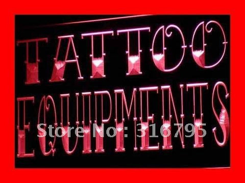 Tattoo Equipment Shop Tools Neon Sign (LED Light)