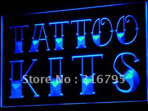 Tattoo Kits Shop Neon Sign (Display LED Light)