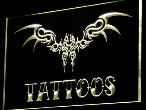 Tattoos Wing Art Neon Sign (Display Bar LED Light)