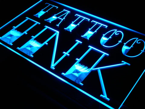 Tattoo Ink Shop Neon Sign (Display Bar LED Light)