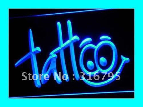 Tattoo Neon Sign (Body Inked Shop LED Light)