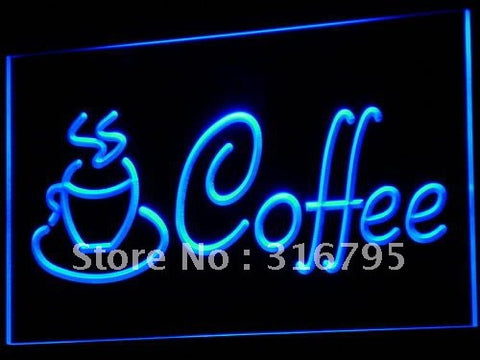 Coffee Cup Neon Sign (Shop Cappuccino Cafe LED Light)