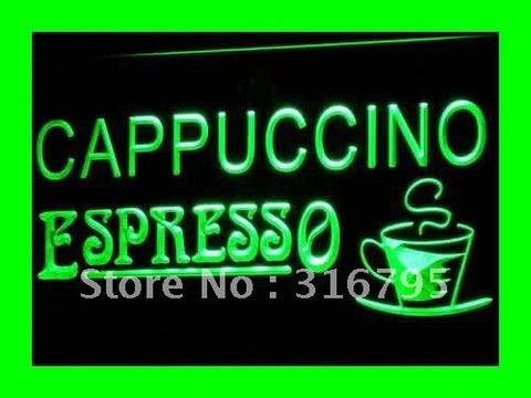 Cappuccino Espresso Neon Sign (Coffee Cafe LED Light)