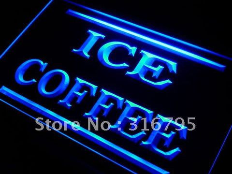 Ice Coffee Neon Sign (Shop LED Light)