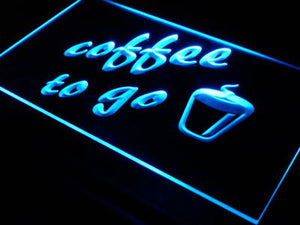 Coffee to Go Neon Sign (Shop Bar Pub LED Light)