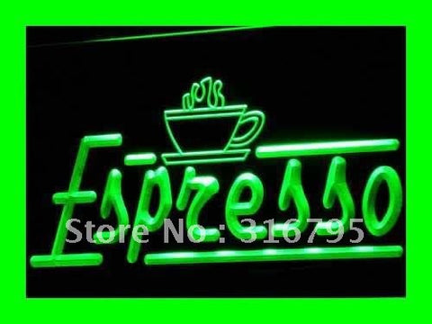 Espresso Neon Sign (Coffee Shop Cafe Club LED Light)