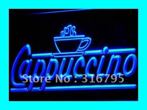 Cappuccino Neon Sign (Coffee Shop Cafe Bar LED Light)