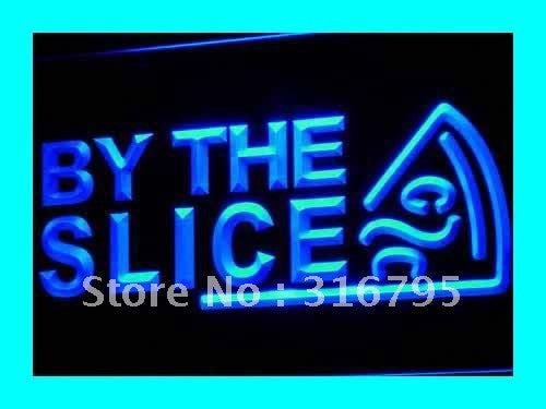 By The Slice Pizza Neon Sign (Cafe Shop LED Light)