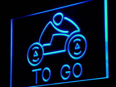 TO GO Neon Sign (Delivery Take Out Pizza Motor Light)