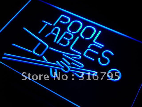 Pool Tables Room Neon Sign (Light LED)