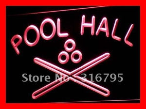 Pool Hall Neon Sign (Light Billiards Snooker Bar LED)