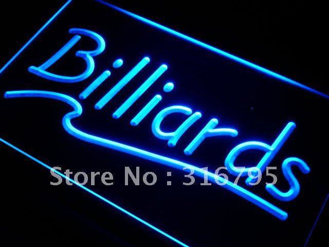Billiards Neon Sign (Light Pool Room Bar LED)