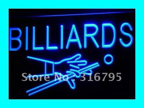 Billiards Neon Sign (Pool Room Table Bar Pub NEW Light)
