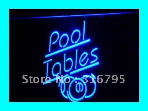 Pool Tables Neon Sign (LED Snooker Billiards Light)