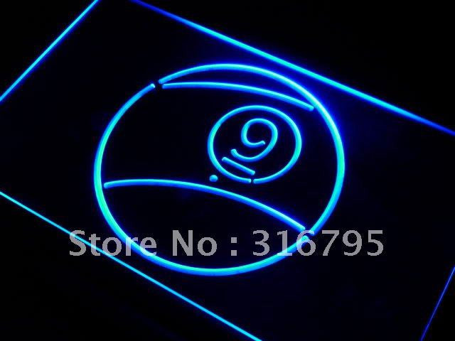 9 Ball Pool Room Neon Sign (LED Light)