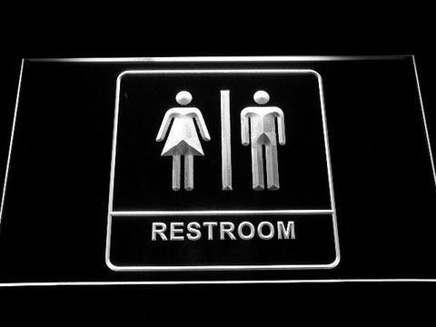 Restroom Neon Sign (Light Toilet Washroom LED Unisex Men Women Male Female)