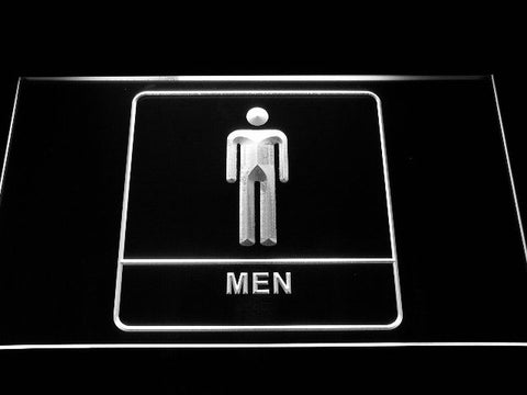 Men Toilet Neon Sign (Washroom Restroom Display LED Male Boy Light)
