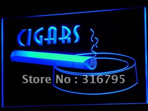 Cigars Neon Sign (Bar Pub Club Cigarette Shop Light)