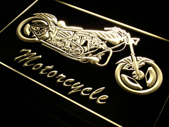 Motorcycle Bike Sales Services Neon Sign (LED Light)
