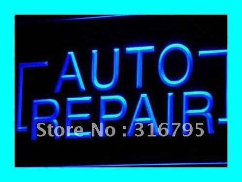 Auto Repair Shop Parts Neon Sign (Display LED Light)