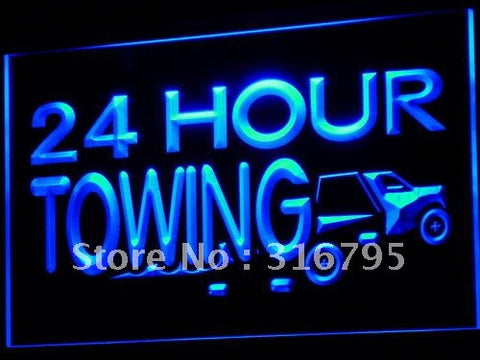 24 Hours Towing Car Repairs Auto Neon Sign (LED Light)