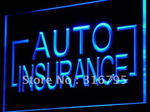 Auto Insurance Neon Sign (Car Shop Display LED Light)